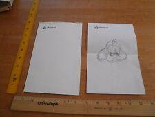 Disneyland Employees tablet of paper w/ sketch 1990s