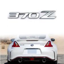 3D Chrome Silver 370Z Badge Emblem Letter Rear Letter Sticker for 2009-up Nissan
