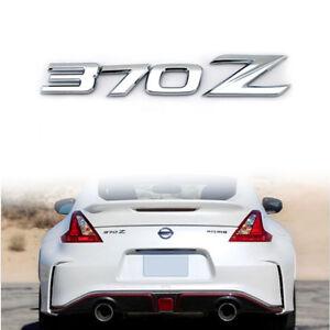 3D Chrome Silver 370Z Badge Emblem Letter Rear Letter Sticker for 2009-up