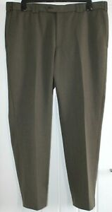 """Mens Meyer Oslo Trousers Brown Textured Polyester Cotton 40W 32L IL 30"""""""