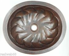 #07 Mexican Copper Sink drop in Bathroom Sinks 18x15""