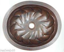 "#07 Mexican Copper Sink drop in Bathroom Sinks 18x15"""