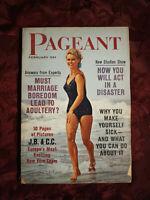 PAGEANT Magazine February 1962 Claudia Cardinale Jean-Paul Belmondo Patty Page