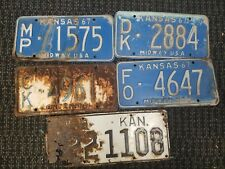 5 1930's 60's Kansas Craft License Plates NO CK DK FO MP Counties
