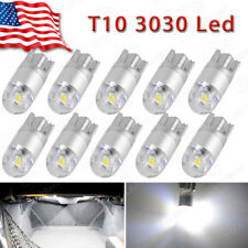 10x Pure White T10 192 194 3030-LED Dome Map License Plate Interior Light Bulbs