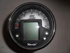 "item #191 3.5"" faria tach gauge fade to black mg2000 smart craft gauge p#ig1178a"