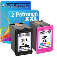 2x de tinta cartucho para HP 301 XL Deskjet 1010 1510 2510 2514 2542 2544 2550