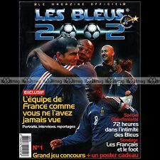 LES BLEUS 2002 N°1 COUPE DU MONDE ZIDANE BOSSO DESAILLY LEBOEUF CARRIERE THURAM