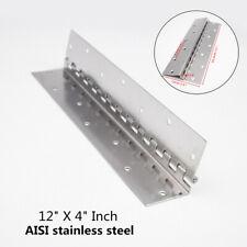 """304 Stainless Steel 12"""" X 4"""" Inch Boat Marine Piano Hinge Marine Hardware"""