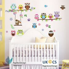 Owls Animal Tree Flower Bird Squirrel Nursery/Baby/Kids Wall Sticker/Decal/Deco