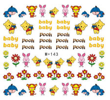 Nail Art Stickers Water Decals Transfers Baby Winnie The Pooh Piglet (M+143)