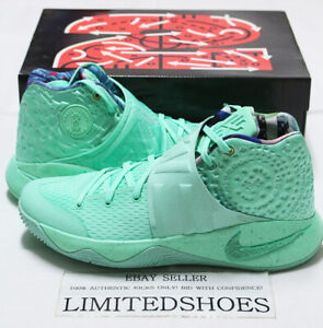 NIKE KYRIE 2 WHAT THE GREEN GLOW 914681-300 Mens US 11.5 Size
