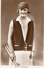 Betty Nuthall Shoemaker Tennis Player unused RP old pc