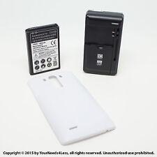 6800mAh Extended Battery for LG G3 D855 VS985 White Cover Dock Charger