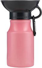 Highwave AutoDogMug Leak Tight Mini BPA Free Dog Water Bottle, 15oz (Blush Pink)