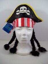 Pirate Hat with Dreadlocks Costume Accessory - Dress Up Theme Party
