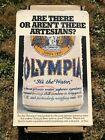 Vintage 1981 Olympia Beer Artesians Cardboard Display Sign Bar Store Promo Large