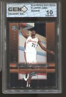2003-04 Lebron James UD Rookie Exclusives #1 Gem Mint 10 RC Rookie LA Lakers