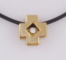 Süße modern Kette Kreuz Anhänger gold Swarovski Strass Kristall Crystal * Neu