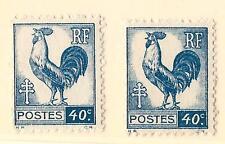 VARIÉTÉ - N°632 ( Coq sur fond blanc + le normal ) - Neuf**- Luxe !