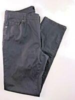 Buffalo David Bitton Navy Blue Straight Leg Women's Pants Size 12.32x30