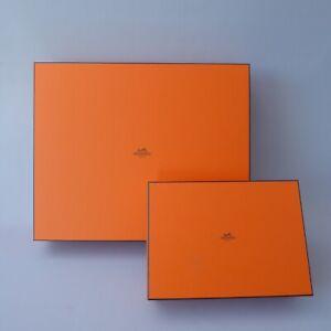 2 Stück Hermes Paris Schachtel Box Karton L. 46cm und 29cm