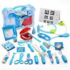CUTE STONE Medical Kit, 30PCS Kids Pretend Dentist Doctor Kit with Carry Case