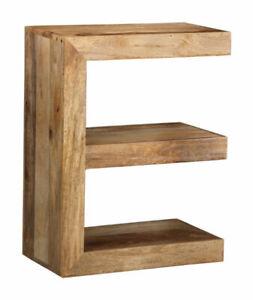 Mango Wood E Shape Table