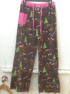 """Lazy One Womens' Fitted Yoga Pants """"TEXT MOOSE-AGING""""  - Sleepwear - Size S"""