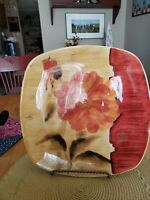 "222 Fifth Cheri Blum ""Chinoiserie"" Platter 11.5""×11.5"" ***SIGNED BY ARTIST***"