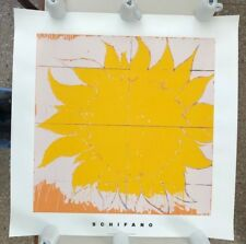 MARIO SCHIFANO,'O SOLE MIO,1964' RARE AUTHENTIC 1997 SILKSCREEN/SERIGRAPH