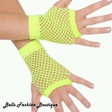 Luminoso Neon Amarillo Guantes sin dedos red £ 4.99 Gratis Reino Unido P&p