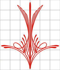 Pinstripe decal vinyl stickers motorcycle car truck tank fender red nice design