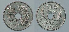 DENMARK Danmark Danemark 25 ore 1967 Frederik IX