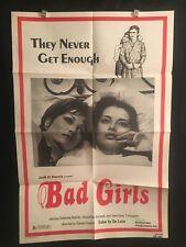 Bad Girls 1979 One Sheet Movie Poster Sexploitation Gay Lesbian Bisexual Love