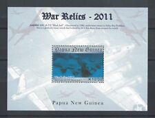 2011 Papua New Guinea War Relics MS SG 1537 Muh
