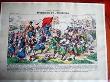 c20-14 Gravure 19e image d'épinal n°148 guerre d'orient attaque du col de Chipka