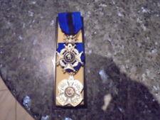beau lot de 2 medaille belge ordre de leopold