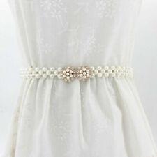 1PC Gold Silver Women Metal Leaves Elastic Waist Belt Strap Cummerbund Waistband