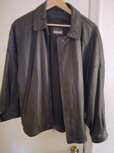 Robert Comstock Endurance Black Leather Jacket sz42