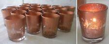 19 Copper Mercury Glass Votive Bridal Wedding Tea Light Candle Holder Favors