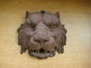 Vintage - Antique / Large Cast Iron Lion Head / Unknown Purpose / Unique