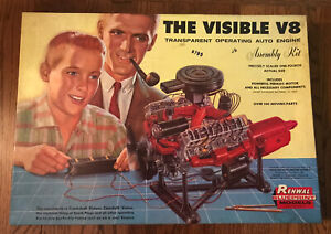 Vintage The Visible V8 Operating Auto Engine Assembly Kit Model