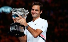 Nike Roger Federer RF Australian Open 2018 20th Grand Slam polo shirt new L #1