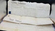 More details for 1792 large vellum indenture robert curry esq to mr william parry brecon