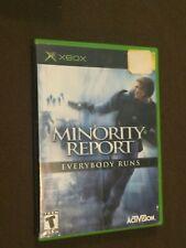 Original Microsoft XBox Video Game Minority Report Rated T NICE!