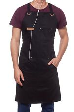Professional Cooking Apron Chef Kitchen BBQ Grill Headphones Loop Tool Pockets