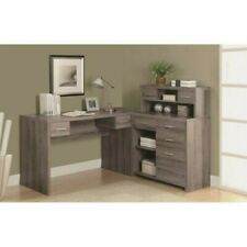 Monarch Specialties Modern/Contemporary Dark Taupe L-shaped Desk