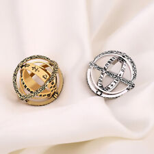 AU_ Alloy Armillary Sphere Ring That Unfolds Into Astronomical Sphere Ring Surpr
