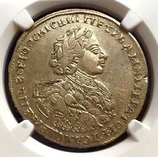 RUSSIA SILVER 1/2 ROUBLE 1723 (R) NGC XF45  Poltina Peter I Russian Russland